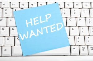 Help wanted message